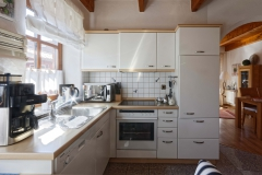 Küche im Ferienhaus Henny