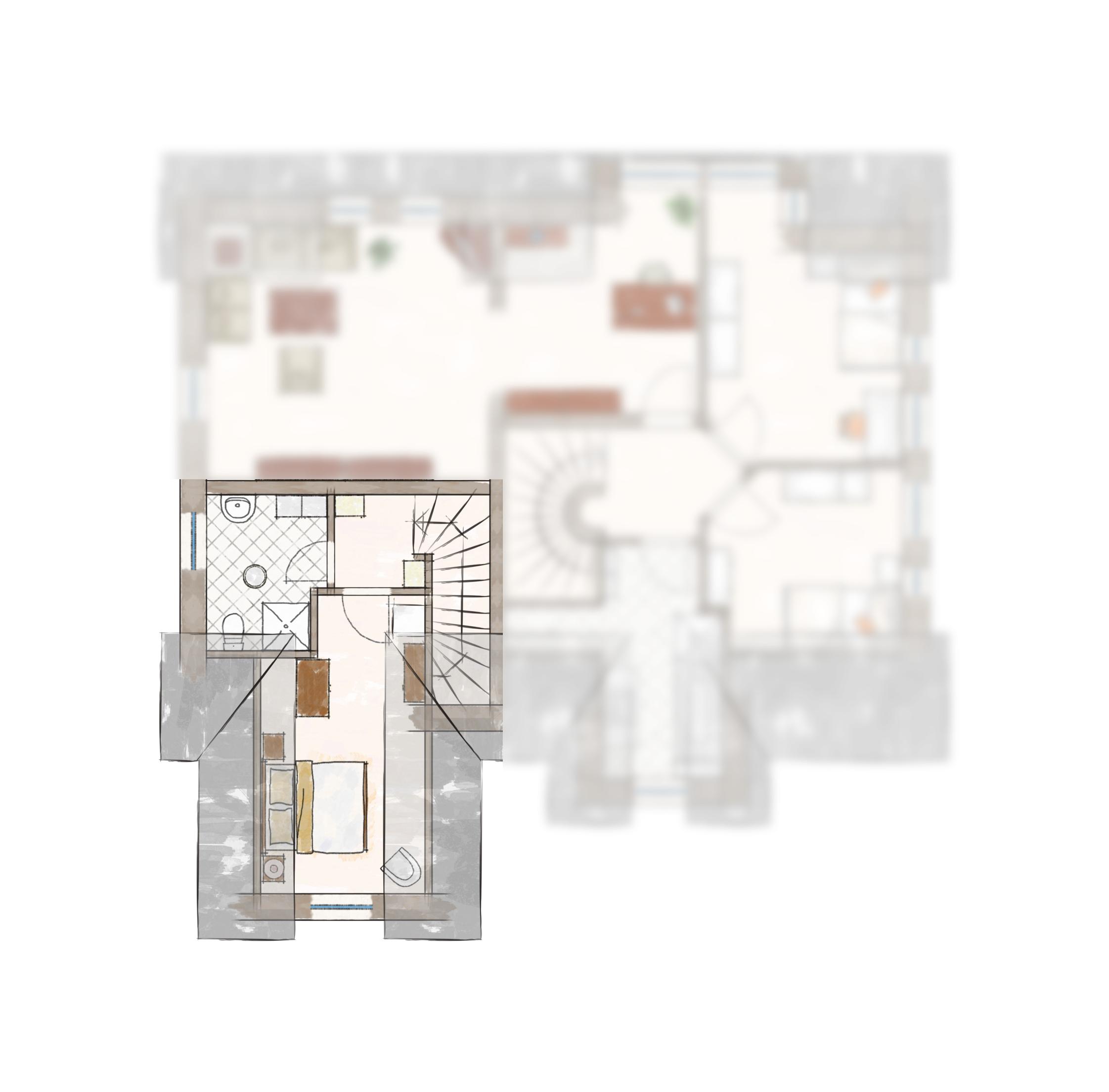 Grundriss Obergeschoss | Ferienhaus Henny